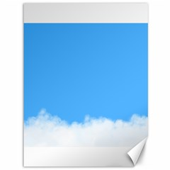 Blue Sky Clouds Day Canvas 36  X 48