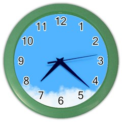 Blue Sky Clouds Day Color Wall Clocks