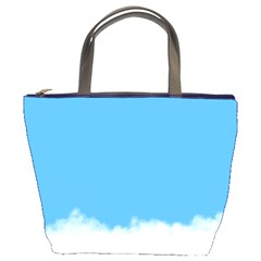 Blue Sky Clouds Day Bucket Bags