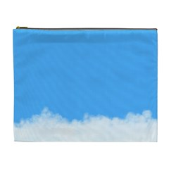 Blue Sky Clouds Day Cosmetic Bag (XL)