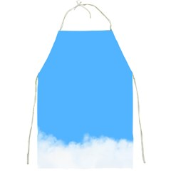 Blue Sky Clouds Day Full Print Aprons