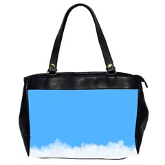 Blue Sky Clouds Day Office Handbags (2 Sides)