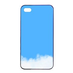 Blue Sky Clouds Day Apple iPhone 4/4s Seamless Case (Black)