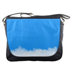 Blue Sky Clouds Day Messenger Bags