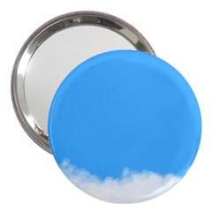 Blue Sky Clouds Day 3  Handbag Mirrors