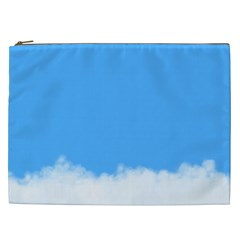 Blue Sky Clouds Day Cosmetic Bag (XXL)