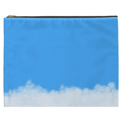 Blue Sky Clouds Day Cosmetic Bag (XXXL)