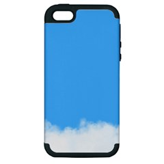 Blue Sky Clouds Day Apple Iphone 5 Hardshell Case (pc+silicone)