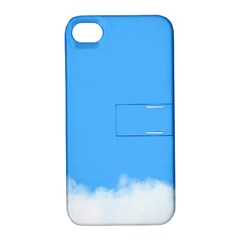 Blue Sky Clouds Day Apple iPhone 4/4S Hardshell Case with Stand