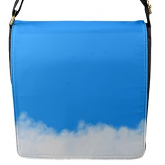 Blue Sky Clouds Day Flap Messenger Bag (S)