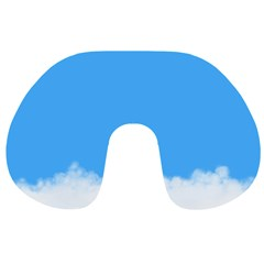Blue Sky Clouds Day Travel Neck Pillows