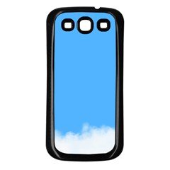 Blue Sky Clouds Day Samsung Galaxy S3 Back Case (Black)