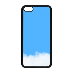 Blue Sky Clouds Day Apple iPhone 5C Seamless Case (Black)