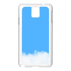Blue Sky Clouds Day Samsung Galaxy Note 3 N9005 Case (White)