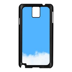Blue Sky Clouds Day Samsung Galaxy Note 3 N9005 Case (Black)