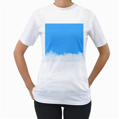 Blue Sky Clouds Day Women s T-Shirt (White)