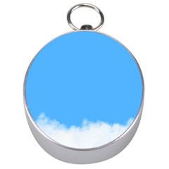 Blue Sky Clouds Day Silver Compasses