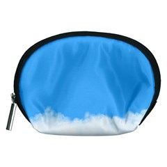 Blue Sky Clouds Day Accessory Pouches (Medium)