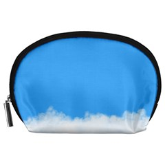 Blue Sky Clouds Day Accessory Pouches (large)
