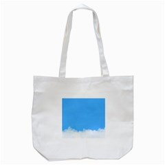 Blue Sky Clouds Day Tote Bag (white)