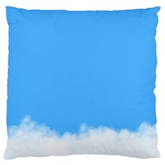 Blue Sky Clouds Day Large Flano Cushion Case (One Side)