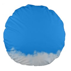 Blue Sky Clouds Day Large 18  Premium Flano Round Cushions
