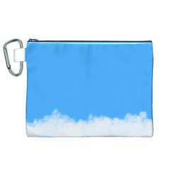 Blue Sky Clouds Day Canvas Cosmetic Bag (XL)