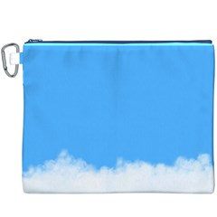 Blue Sky Clouds Day Canvas Cosmetic Bag (xxxl)