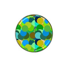 Green Aqua Teal Abstract Circles Hat Clip Ball Marker