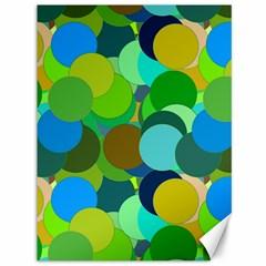 Green Aqua Teal Abstract Circles Canvas 36  X 48