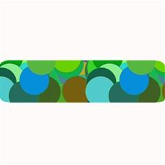 Green Aqua Teal Abstract Circles Large Bar Mats