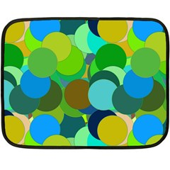 Green Aqua Teal Abstract Circles Fleece Blanket (Mini)