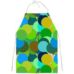 Green Aqua Teal Abstract Circles Full Print Aprons