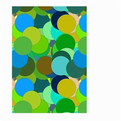 Green Aqua Teal Abstract Circles Large Garden Flag (Two Sides)