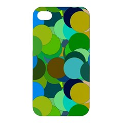 Green Aqua Teal Abstract Circles Apple iPhone 4/4S Premium Hardshell Case