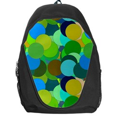 Green Aqua Teal Abstract Circles Backpack Bag