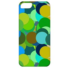 Green Aqua Teal Abstract Circles Apple iPhone 5 Classic Hardshell Case