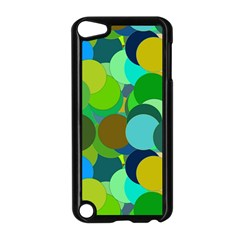 Green Aqua Teal Abstract Circles Apple Ipod Touch 5 Case (black)