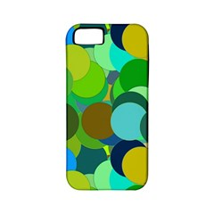 Green Aqua Teal Abstract Circles Apple iPhone 5 Classic Hardshell Case (PC+Silicone)