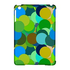 Green Aqua Teal Abstract Circles Apple iPad Mini Hardshell Case (Compatible with Smart Cover)