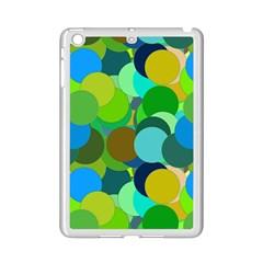 Green Aqua Teal Abstract Circles iPad Mini 2 Enamel Coated Cases