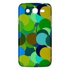 Green Aqua Teal Abstract Circles Samsung Galaxy Mega 5.8 I9152 Hardshell Case