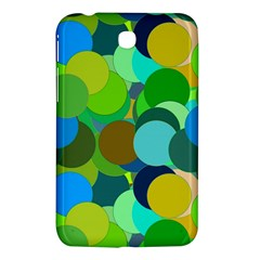 Green Aqua Teal Abstract Circles Samsung Galaxy Tab 3 (7 ) P3200 Hardshell Case