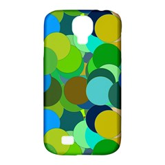 Green Aqua Teal Abstract Circles Samsung Galaxy S4 Classic Hardshell Case (PC+Silicone)