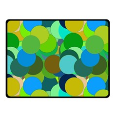 Green Aqua Teal Abstract Circles Double Sided Fleece Blanket (Small)