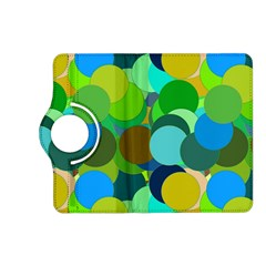 Green Aqua Teal Abstract Circles Kindle Fire HD (2013) Flip 360 Case