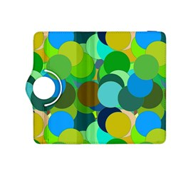 Green Aqua Teal Abstract Circles Kindle Fire HDX 8.9  Flip 360 Case