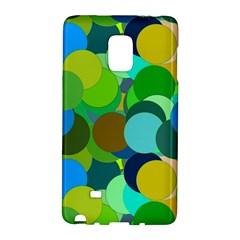 Green Aqua Teal Abstract Circles Galaxy Note Edge
