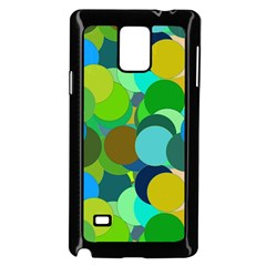 Green Aqua Teal Abstract Circles Samsung Galaxy Note 4 Case (black)