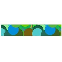 Green Aqua Teal Abstract Circles Flano Scarf (Large)